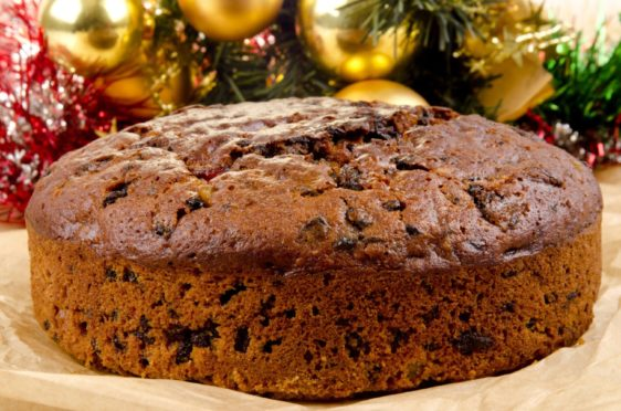 freshly baked Christmas fruit cake