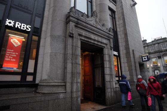 Royal Bank of Scotland on Aberdeen's Union Street.