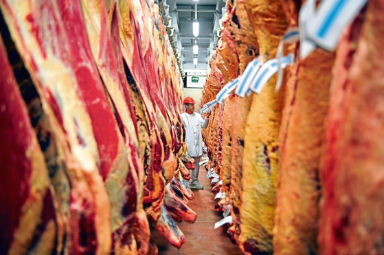 ports of red meat were driven by a lower price, with the value of what was sold rising marginally