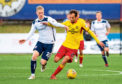 Partick Thistle's Raffaele De Vita, right, and Miko Virtanen in action during the sides' Ladbrokes Championship match.