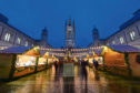 A view of the Christmas Village and Market at Marischal Square Picture by Kenny Elrick