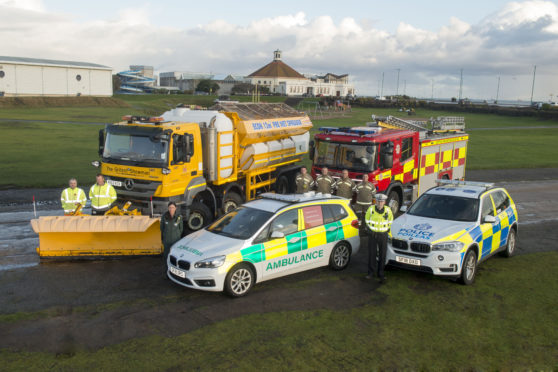 Aberdeen's emergency services and City Council are warning people to winter weather.