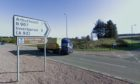 The Fordoun junction on the A90