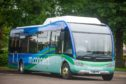 Moray Council launched its electric bus service on a route between Forres and Aberlour.