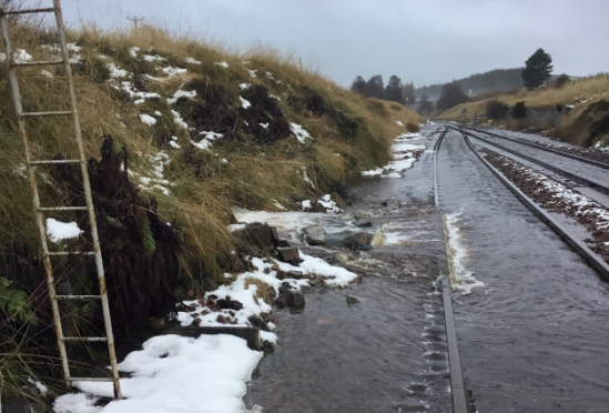 The flooding has forced the closure of the line.