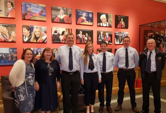 Caroline Isaac, Karen Scott, Mark Scott, Leonie Mead, Andrew Mead, David Isaac and James Hardie were recognised at the RNLI ceremony