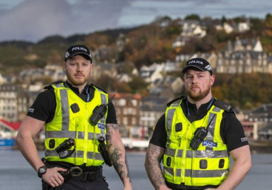 Constables Shaun Conway and Scott Deakin