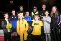 Samuel Main, Sergeant Jim Raeburn, Findlay Harkins and Katie Reekie with kids, from left, Kyle Smith, Liam Duncan, Nicole Watson, Zach Symon, Max MacIver and Daniel Reaper.