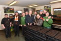Pictured are John Swinney Deputy First Minister and Fergus Mutch, SNP candidate for West Aberdeenshire and Kincardine, on the campaign trail talking to members of staff at Foxlane Garden Centre, Westhill.