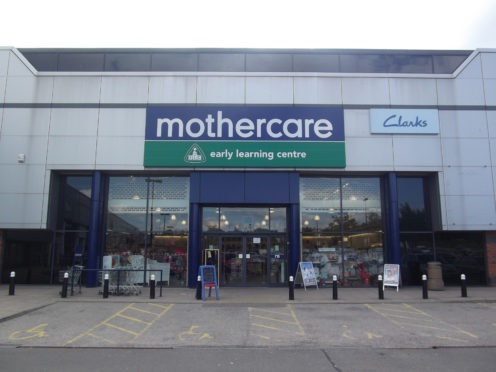 Mothercare at Berryden retail park in Aberdeen.