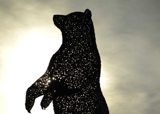 Andy Scott Giant Bear Sculpture at Dunbar Hallhill Development, East Lothian