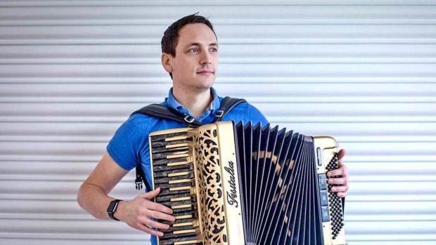 The Highland born accordionist Gary Innes