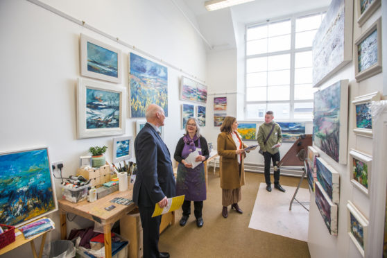 A scene from the WASPS opening, Inverness Creative Campus.