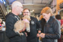 Nicola Sturgeon in BrewDog Dog Tap, Ellon, with patrons. Picture by Jamie Ross