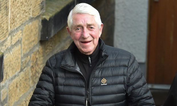 John Henderson leaving Elgin Sheriff Court.