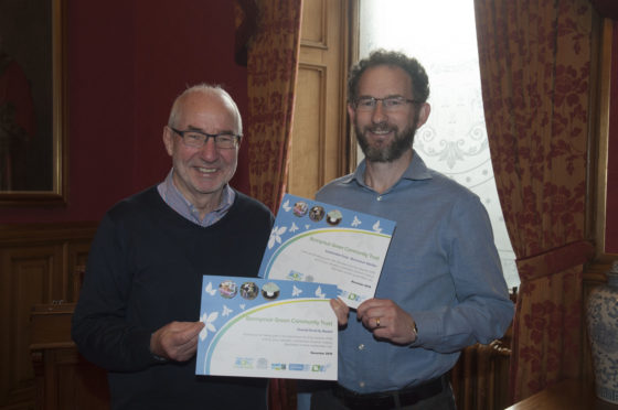 Jim Lee and Greg Walsh from Bonnymuir Green Community Trust.
