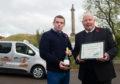 Moray MP Douglas Ross and taxi driver Garey Stewart.