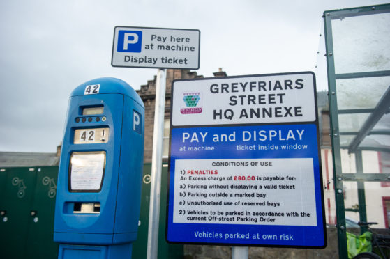 Greyfriars St. HQ Annex car park in Elgin, Moray.  Picture by JASON HEDGES