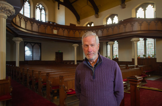 Session clerk Roy Anderson in St Leonard's Church in Forres. Picture by Jason Hedges.