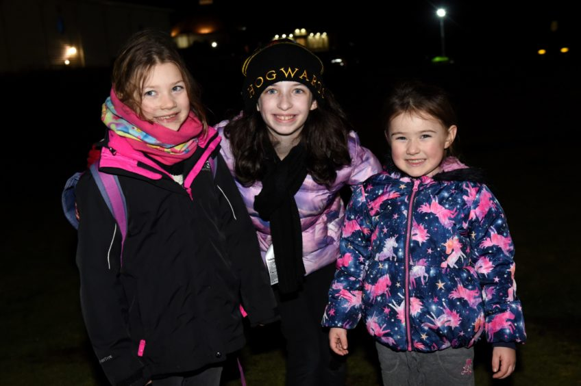 Picture of (L-R) Zoe Chambers, 6, Maya Caruso, 10, Amara Chambers, 4.  Picture by KENNY ELRICK