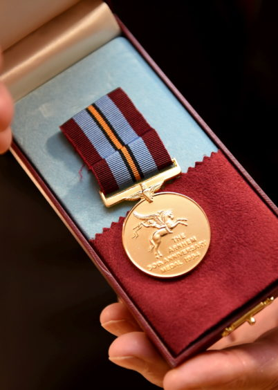 Sandy Cortmann's 50th Anniversary Arnhem medal   Picture by Paul Glendell