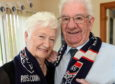 Joan and Hamish MacDonald of Dingwall celebrating their Diamond Wedding Anniversary. Picture by Sandy McCook