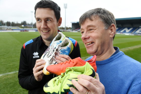 Craig Masterton, (left) head of community with Inverness Caledonian Thistle Community Development Trust and Dave Milroy, trustee and club ambassador. Picture by Sandy McCook