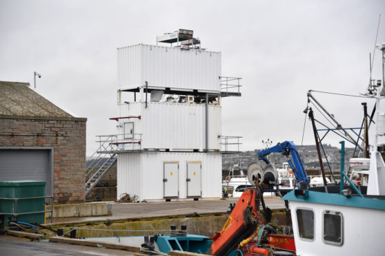 The new ice factory at Macduff harbour which has yet to open.