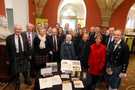 Courier News - Dundee story - Rae medals - McManus. CR0016937 Picture shows; members of the Rae family at the handover of the medals,at the Mcmanus Galleries in Dundee today. Friday 29th November 2019. Dougie Nicolson / DCT Media.