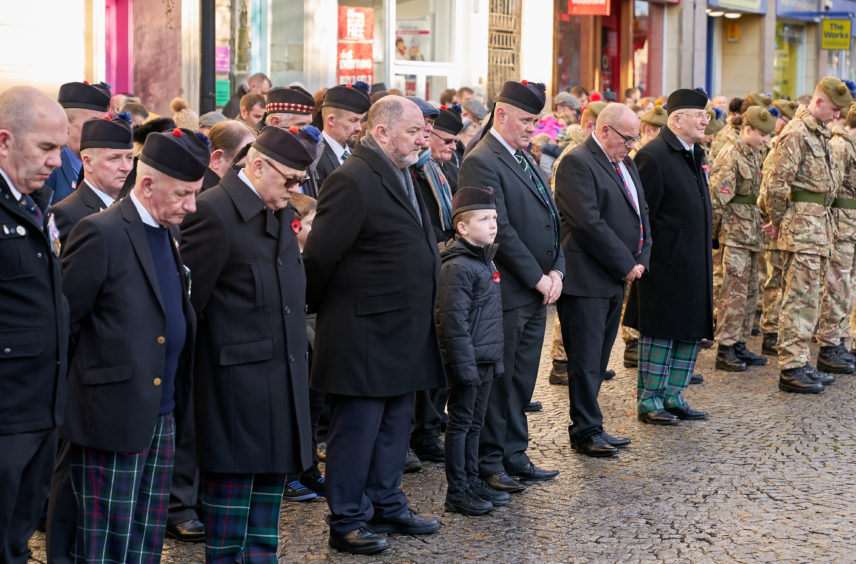 Remembrance Sunday in Elgin