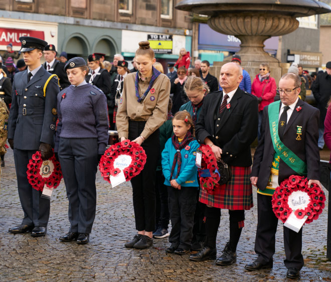 Remembrance Sunday ceremony in Elgin