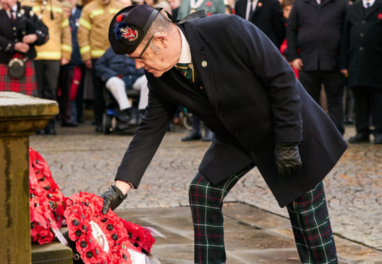 Remembrance Sunday in Elgin.