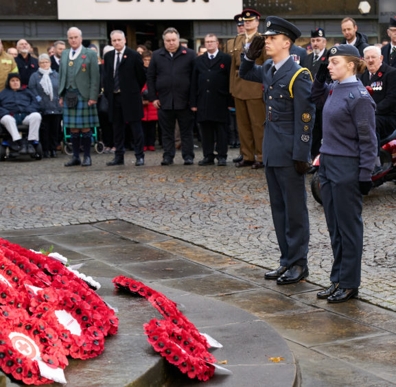 The Remembrance Sunday service in Elgin