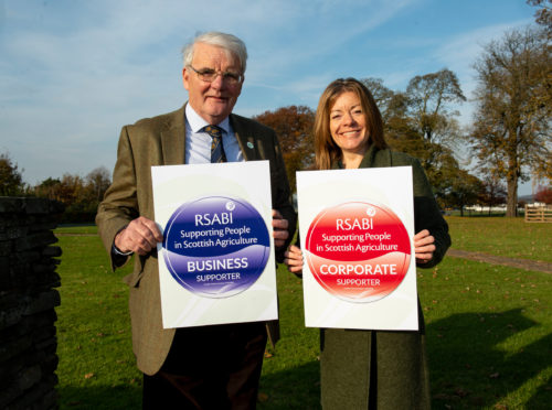 RSABI chairman Ewan Pate with the charity's chief executive, Nina Clancy.