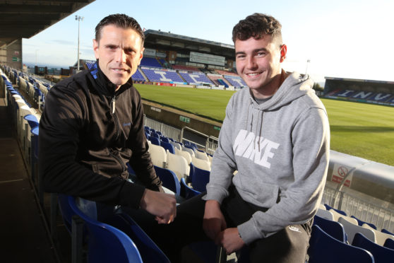 Richard Hastings and his nephew Gabriel, who both have come through at Caley Thistle.