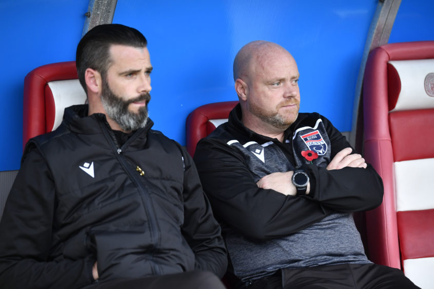 Ross County co-managers Stuart Kettlewell  and Steven Ferguson ahead of the Ladbrokes Premiership match between Hamilton and Ross County