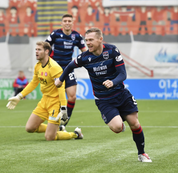 Ross County's Billy McKay during the Ladbrokes Premiership match between Hamilton and Ross County