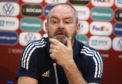 Scotland head coach Steve Clarke during a press conference at The GSP Stadium.