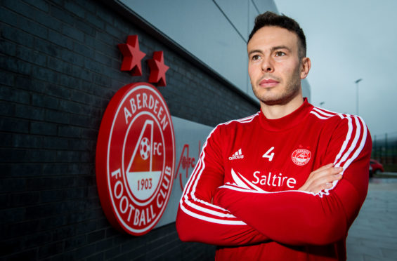 Andrew Considine at Cormack Park yesterday.