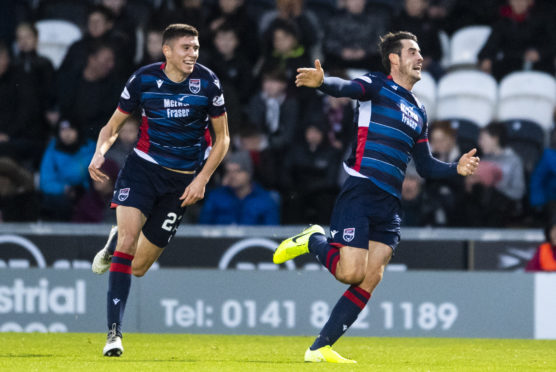 Brian Graham celebrates his opener for Ross County.