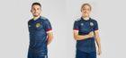 The new Scotland kit, modelled by John McGinn and Erin Cuthbert.