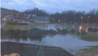 Flooding took place at Castle Park in Aboyne on January 7, 2016