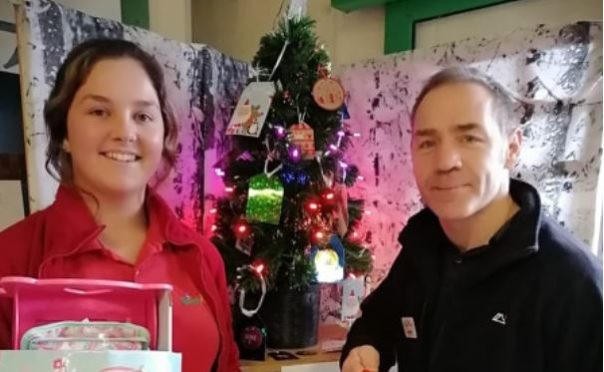 Isla Dickie-Moir and Alston Buchanan are employees at Happy Plant in Mintlaw