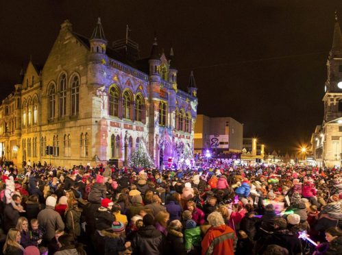 The Christmas lights switch-on event in Inverness always attracts big crowds
