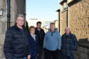Pictured from left are all George Square residents:Coliin Strachen, Edna Ross, Rob Griffith, Dave Cormie and George Ross.  Picture by Paul Glendell
