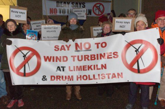 Limekiln wind farm protest