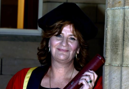 Collette Cohen received her honorary degree. Picture by COLIN RENNIE