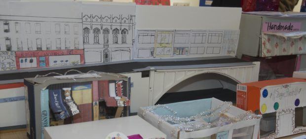 04/12/18 City centre masterplan shoebox shop design competition by local school pupils