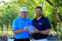 Mark Aspland, Head of Staysure Tour presents the John Jacobs Trophy to Paul Lawrie of Scotland after the final round of the MCB Tour Championship - Mauritius.