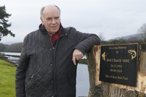David Sutherland at Bob Church plaque